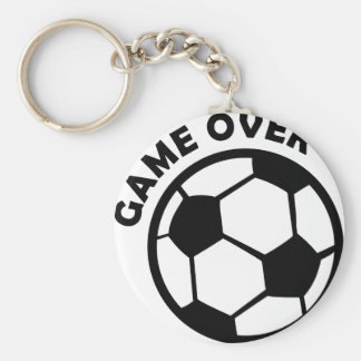 game over soccer ball keychain