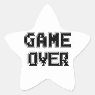 GAME OVER STAR STICKER