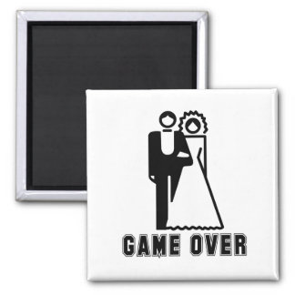 GAME OVER T-shirt 2 Inch Square Magnet
