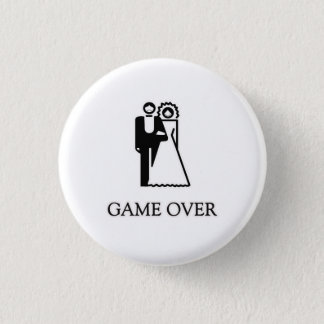 Game Over T Shirt Pinback Button
