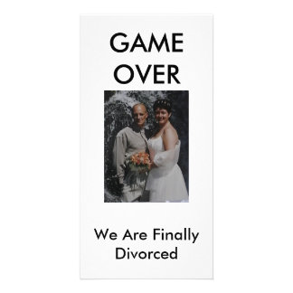 GAME OVER, We Are Finally  divorced Card