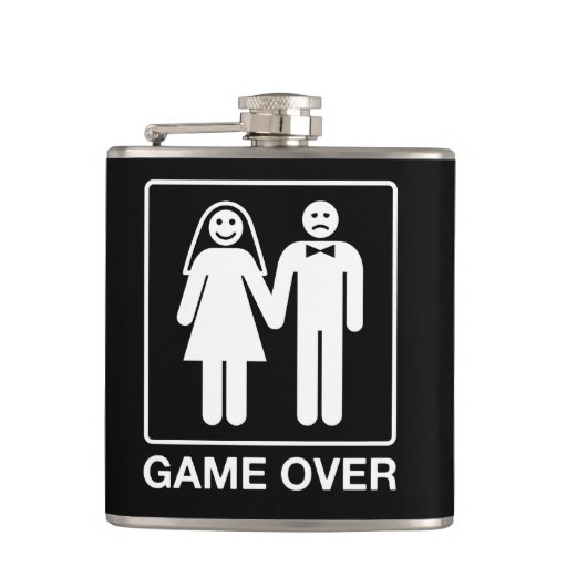 Game Over Wedding Drinking Travel Flask