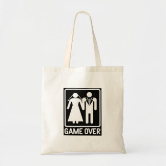 """GAME OVER"" WEDDING HUMOR TOTE"
