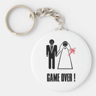 GAME OVER Wedding Keychain
