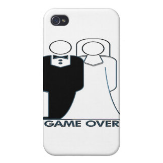 Game Over Wedding Marriage Couple iPhone 4 Covers