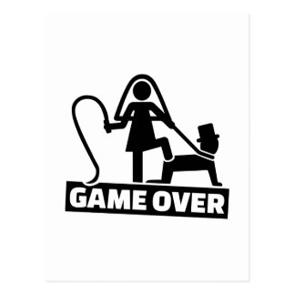 Game Over Marriage Postcards | Zazzle