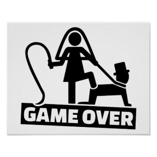 Game over wedding poster
