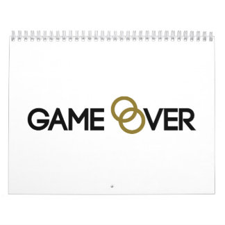 Game over Wedding rings Wall Calendars