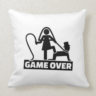 Game over wedding throw pillow