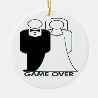 Game Over Your Married Wedding Ornament
