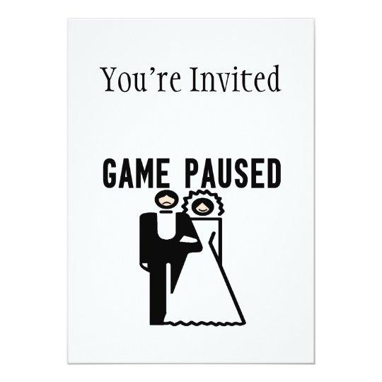 Game Paused Bride & Groom Card