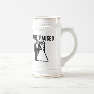 Game Paused Bride & Groom Coffee Mug