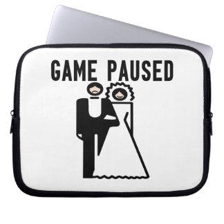 Game Paused Bride & Groom Computer Sleeves