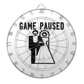 Game Paused Bride & Groom Dart Boards
