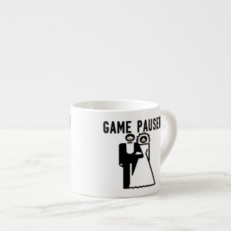 Game Paused Bride & Groom Espresso Mugs