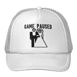 Game Paused Bride Groom Hats