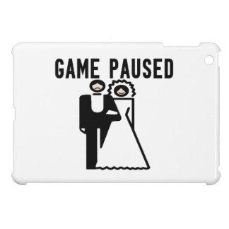 Game Paused Bride & Groom iPad Mini Covers