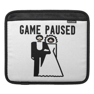 Game Paused Bride & Groom iPad Sleeves