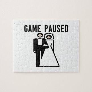 Game Paused Bride & Groom Jigsaw Puzzle