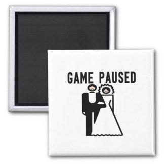 Game Paused Bride & Groom Fridge Magnet