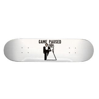 Game Paused Bride & Groom Skateboard Deck