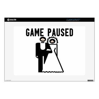 Game Paused Bride & Groom Skins For Laptops