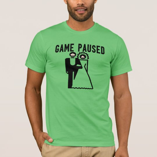 Game Paused Bride & Groom T-Shirt