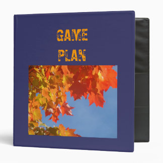 GAME PLAN Binders Sports School Strategy Planning