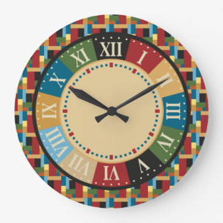 Game Room Colorful Geometric Modern Large Clock