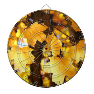 Game Room Dart Boards custom Yellow Leaves Autumn