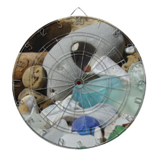 Game Room Dart Boards Decorative Sea Glass Fossils