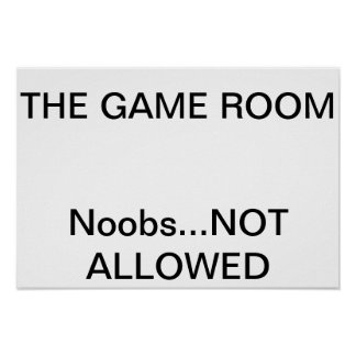 Game Room Sign Poster