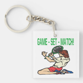 Game Set Match 2.png Keychain
