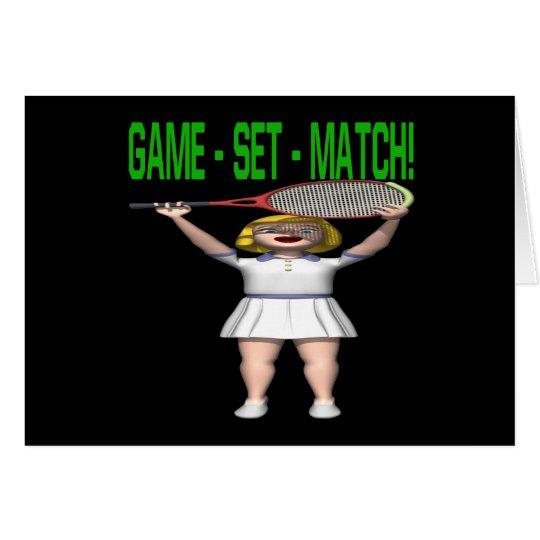 Game Set Match Card