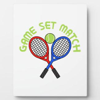 Game Set Match Plaques