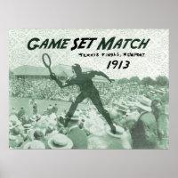 Game Set Match: Vintage Tennis poster