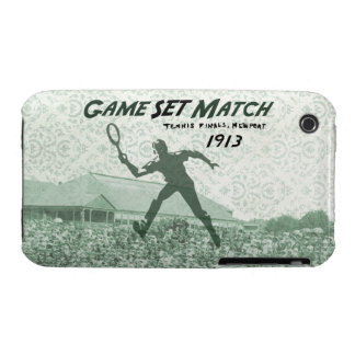 Game Set Match: Vintage Tennis poster Case-Mate iPhone 3 Cases