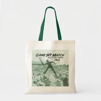 Game Set Match: Vintage Tennis poster Tote Bag