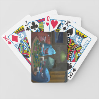 Game Sharks Playing Poker Card Deck
