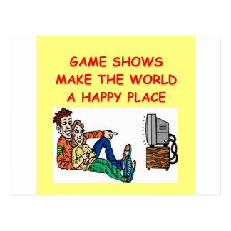 game shows postcard