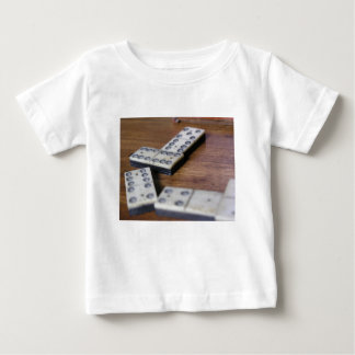 Game Table Domino Dominoes Wood Old Vintage Play Baby T-Shirt