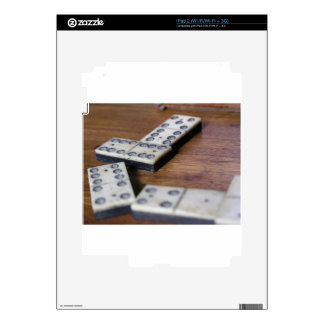 Game Table Domino Dominoes Wood Old Vintage Play iPad 2 Decal
