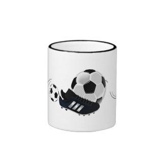 Game Team Coach Sports Ball Fun Soccer Ball Ringer Coffee Mug