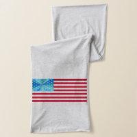 Game Team Sports USA Celebrate Stars Stripes Flag Scarf