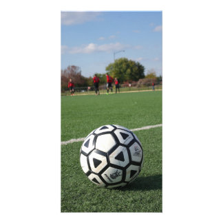 Game Time Perspective - Soccer / Futbol Photo Card
