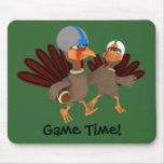 Game Time Thanksgiving Turkey Football Mousepad