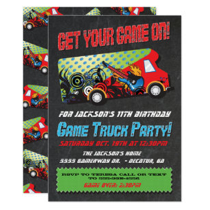 Video Game Party Invitations Announcements Zazzle