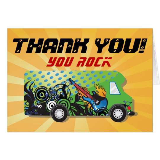 truck thank you note cards zazzle