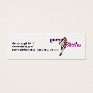 GameBetties business cards