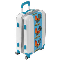 Gamecock Blue Red Rooster Luggage